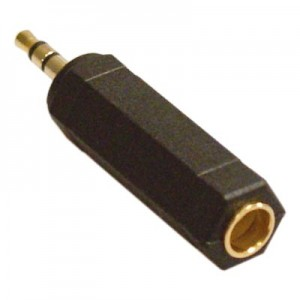 Adapter 6.3mm till 3.5 mm tele